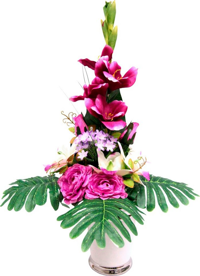 Home affaire Kunstblumen-Arragement »Gladiole« in rosa