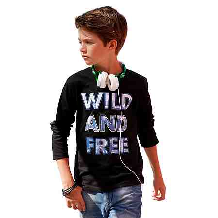 "Arizona Langarmshirt ""WILD AND FREE"""