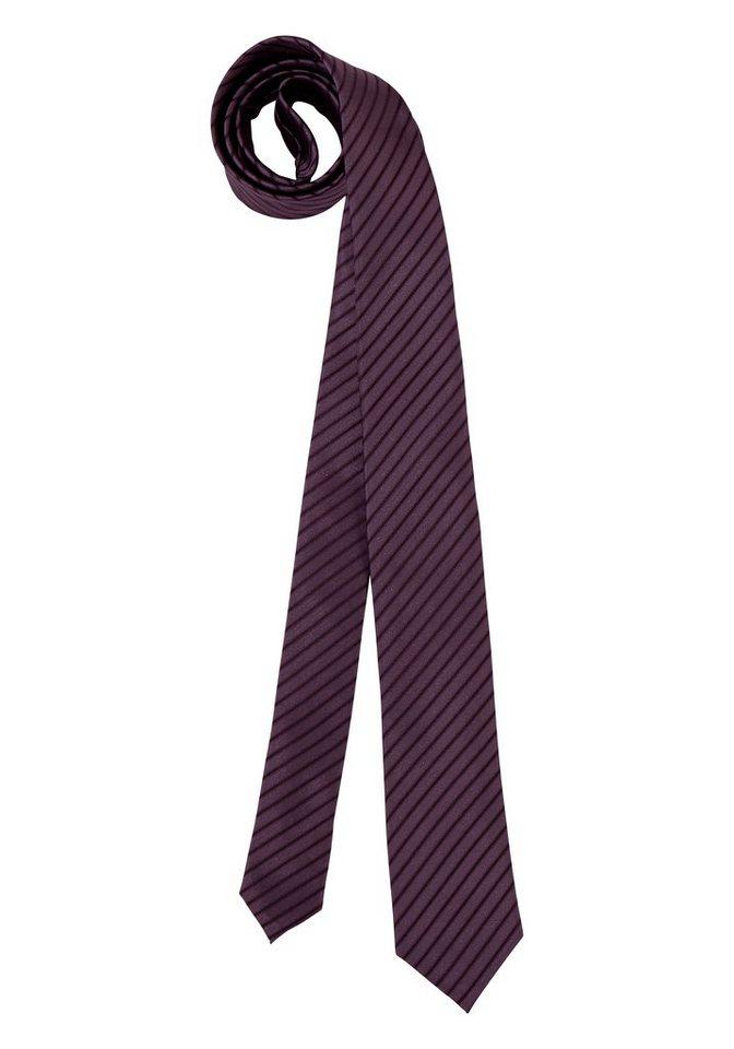 Bruno Banani Krawatte in dunkellila-gestreift