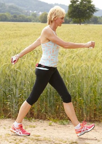 Fitnessgerät, Pro X Walker, »Pro X Walker mit Komforttasche« in rot-weiß