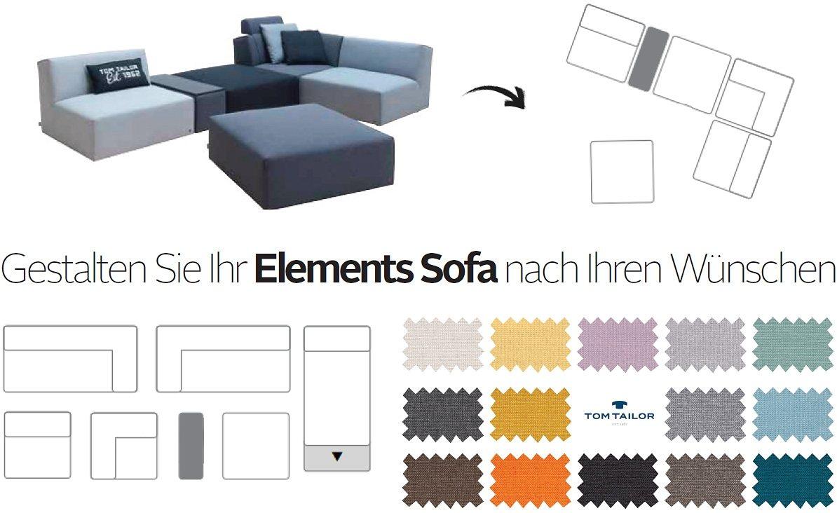 TOM TAILOR Wohnlandschaft mit Tischelement »Elements«, bestehend aus 6 Elementen