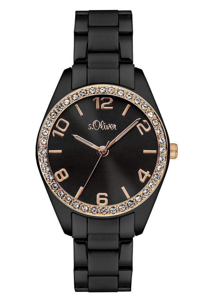 "s.Oliver , Armbanduhr, ""SO-3062-MQ"" in schwarz"
