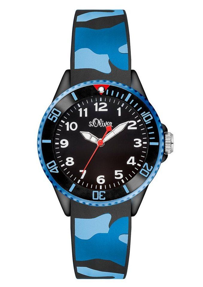 s.Oliver RED LABEL Quarzuhr »SO-3109-PQ« in blau-schwarz