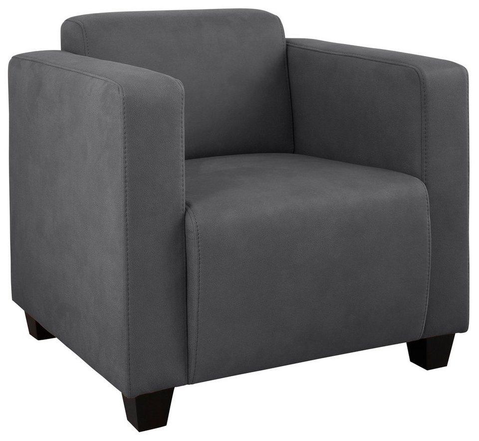 clubsessel grau. Black Bedroom Furniture Sets. Home Design Ideas