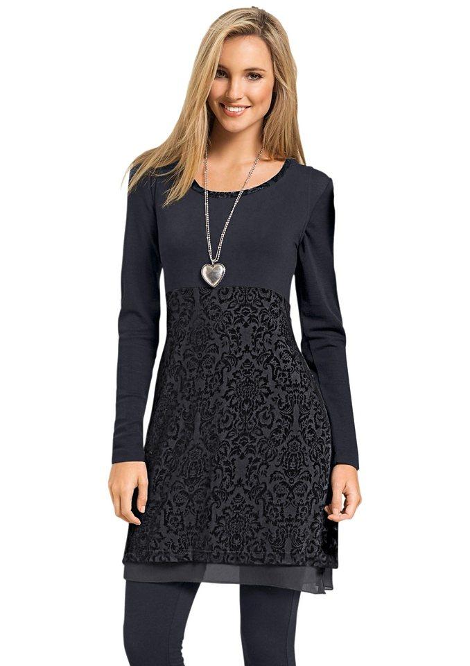 Classic Inspirationen Shirttunika aus hochwertige Mesh-Qualität in schwarz