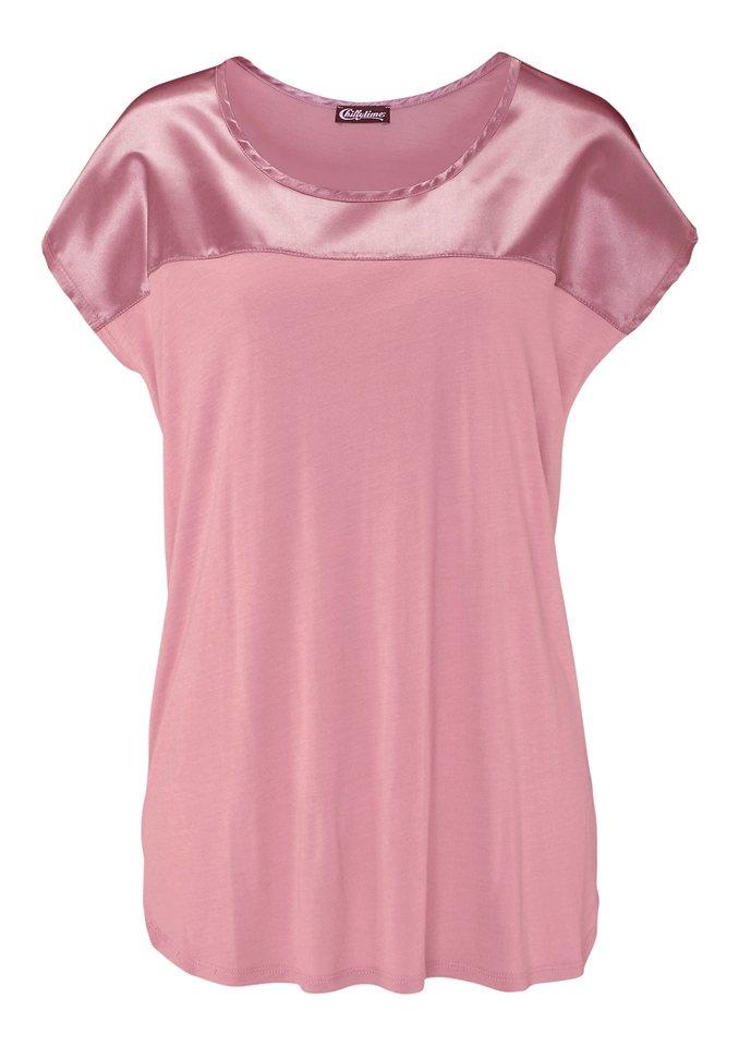 Lady Longshirt mit Seitenschlitzen in rosé
