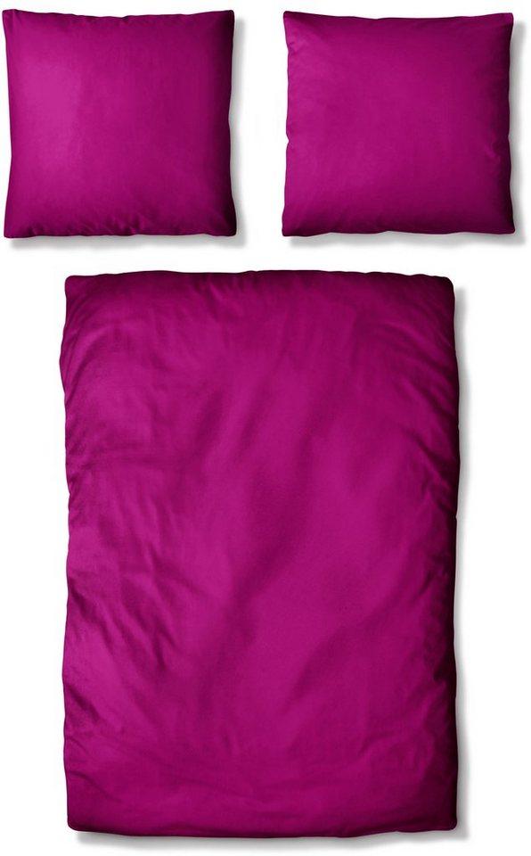 bettw sche basic uni auro hometextile mit seidigem. Black Bedroom Furniture Sets. Home Design Ideas