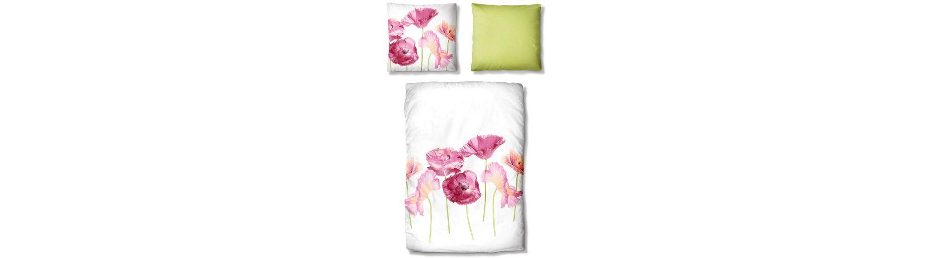 Bettwäsche, Auro Hometextile, »Mohnblumen«, mit Blüten