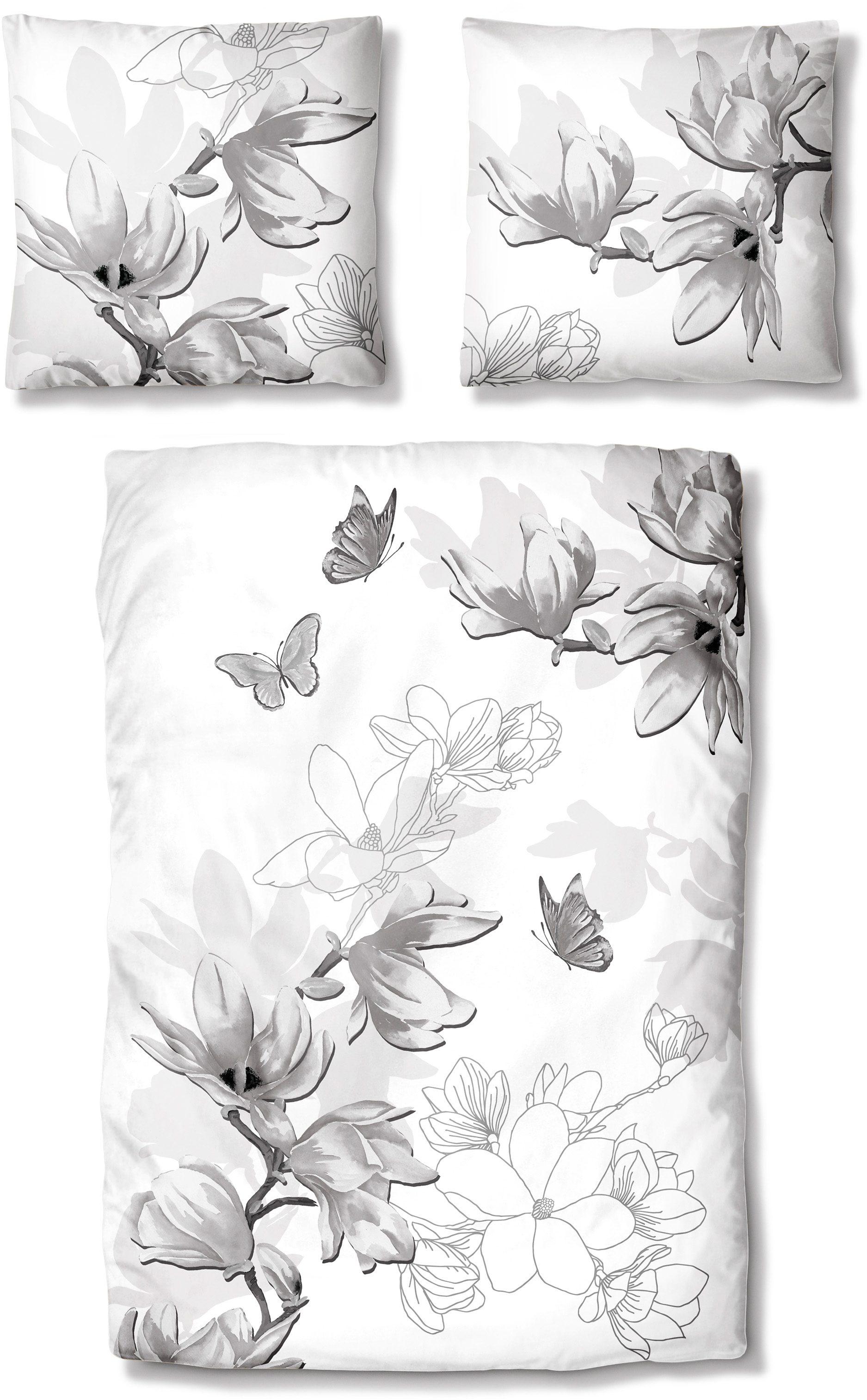 Bettwäsche, Auro Hometextile, »Eva«, mit Schmetterlingen