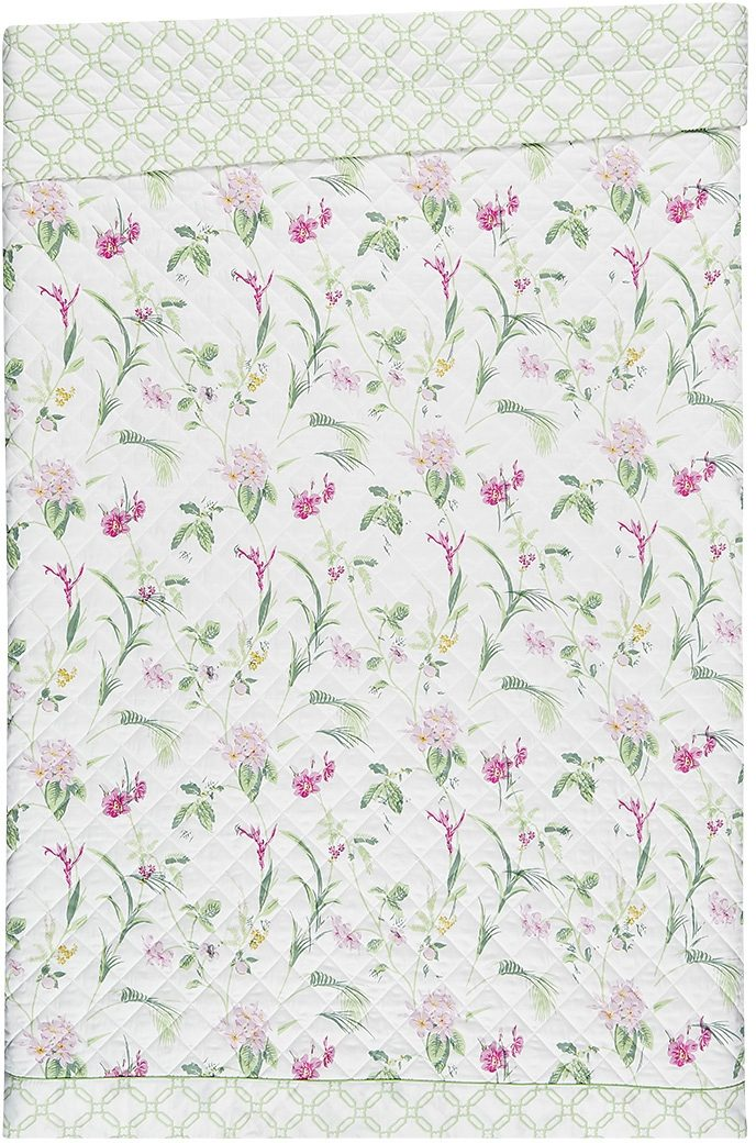 Tagesdecke, Laura Ashley, »Orchid«, mit gemusterter Bordüre