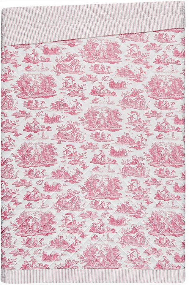 Tagesdecke, Laura Ashley, »Toile«, mit Motiv in rosa