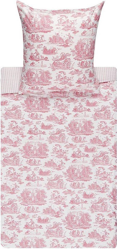 Bettwäsche, Laura Ashley, »Toile«, mit Motiv in rosa
