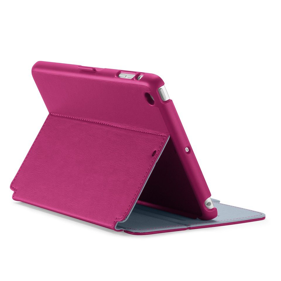 Speck HardCase »StyleFolio iPad mini (1/2/3) Nickel Grey/Fuchsia P«