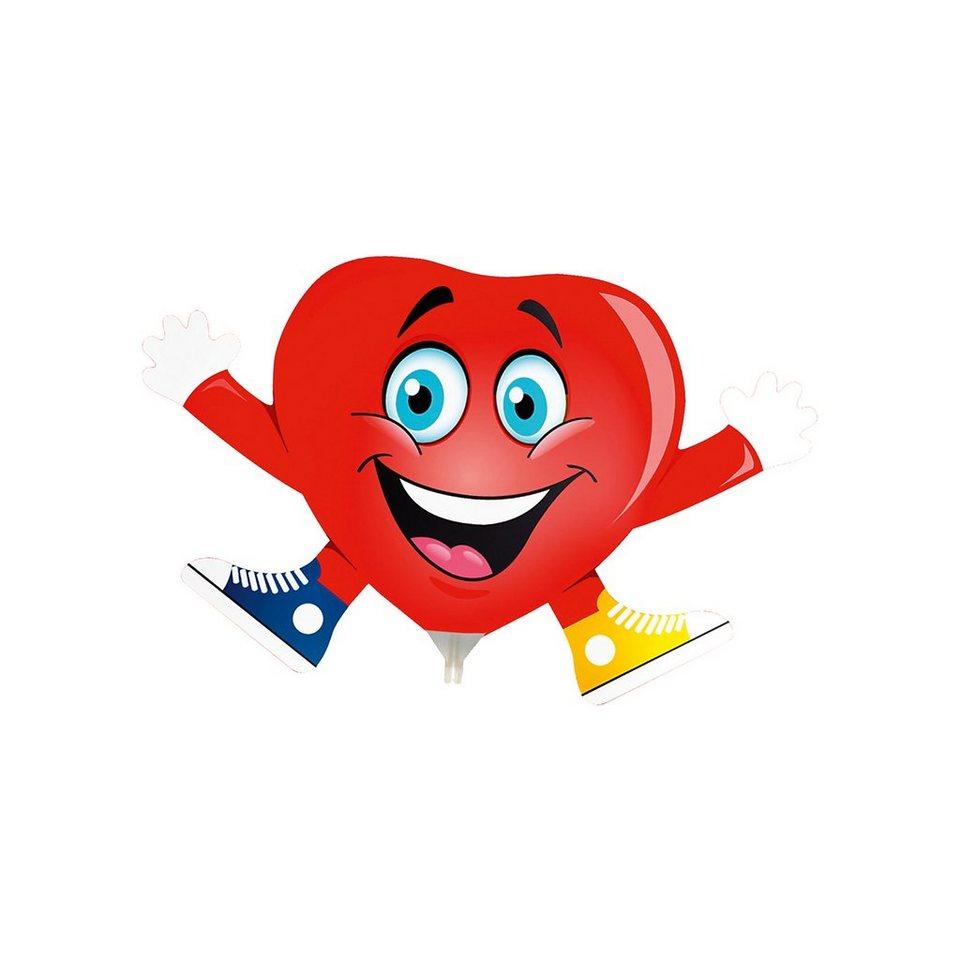 Mini-Folienballon Herz, 5 Stück