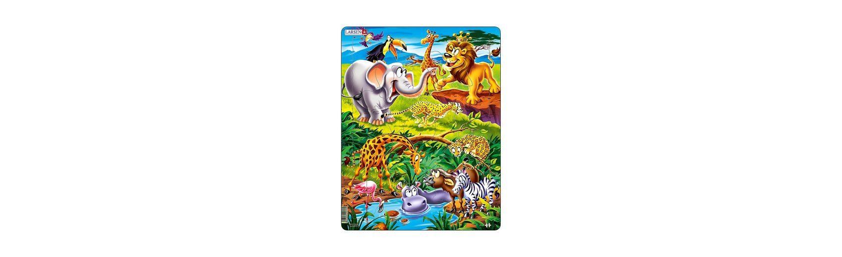 Larsen Rahmenpuzzle 18 Teile Tierische Safari