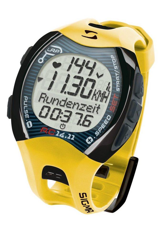 Sigma Sport Pulsuhr inkl. Brustgurt, Running Computer, gelb, X Award bestes Produkt des Jahres in 04 in gelb