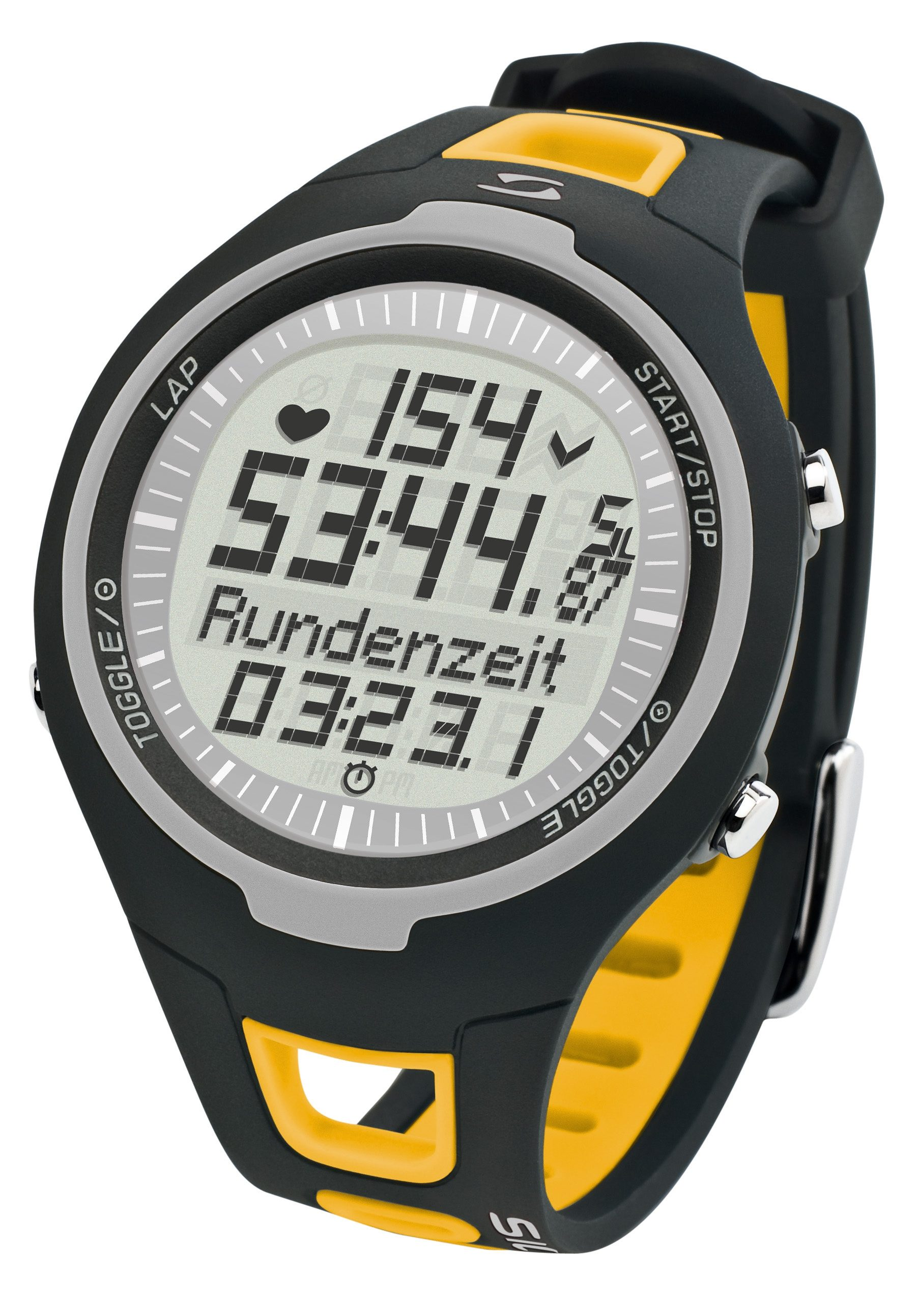 Sigma Sport Pulsuhr inkl. Brustgurt, »PC 15.11 yellow«