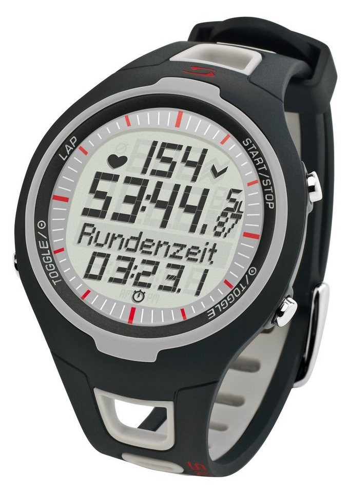 Sigma Sport Pulsuhr inkl. Brustgurt, »PC 15.11 gray« in grau