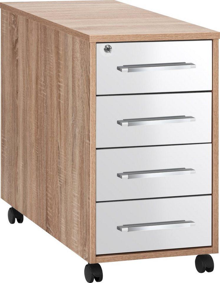 preisvergleich rollcontainer merit i eiche sonoma dekor hochglanz willbilliger. Black Bedroom Furniture Sets. Home Design Ideas