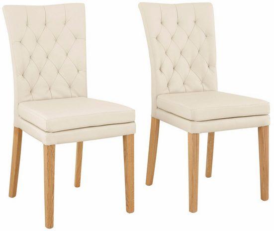 Home affaire Stuhl »Colorado« (Set, 2 Stück), Beine in eiche oder nussbaum. Im 2er, 4er oder 6er-Set