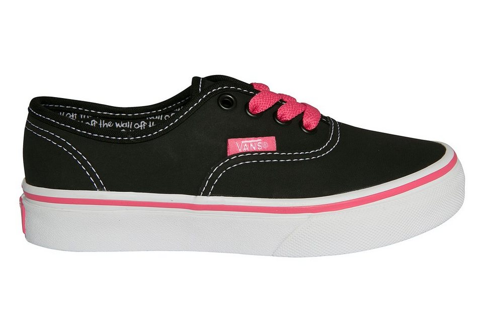 Vans Kinder Authentic Sneaker in Schwarz-Pink