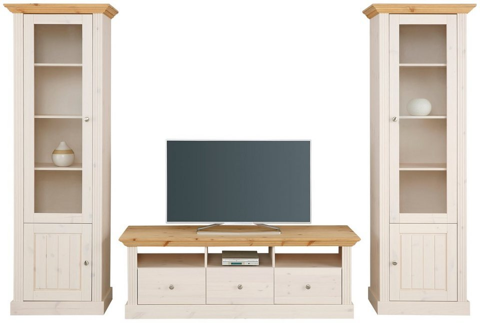 wohnwand 3 tlg home affaire skanderborg breite 270 cm online kaufen otto. Black Bedroom Furniture Sets. Home Design Ideas