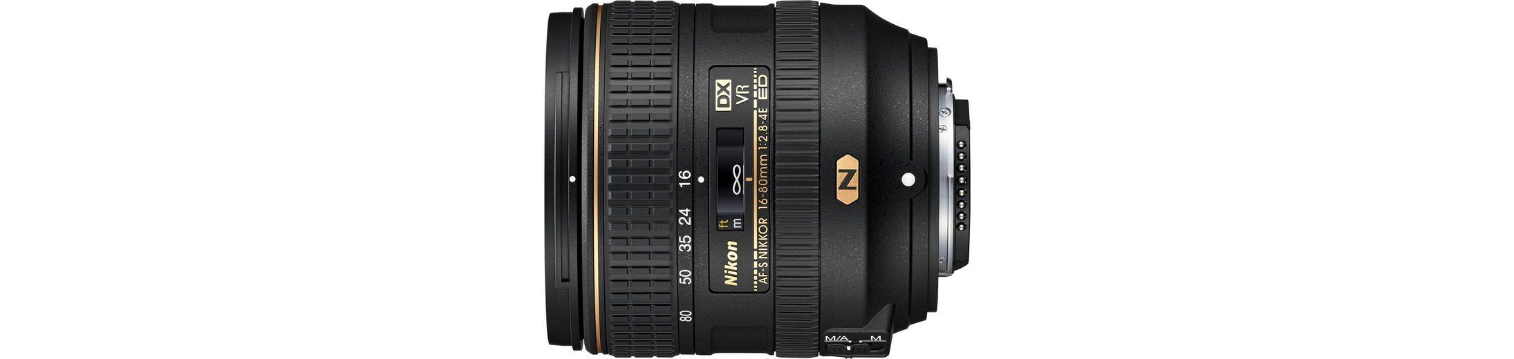 Nikon AF-S DX NIKKOR 16–80 mm 1:2,8–4E ED VR Standardzoom Objektiv