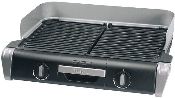 Tefal BBQ Grill Family TG8000, 2400 Watt, Alu-Druckguss Grillplatten