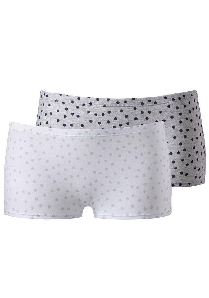 Petite Fleur schicke Panties (2 Stück) in grau gepunktet + weiß gepunktet