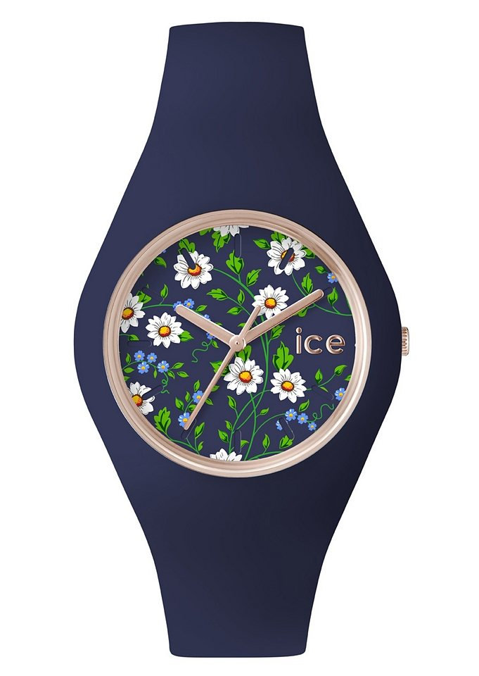 ice-watch Quarzuhr »ICE-FLOWER, ICE.FL.DAI.U.S.15« in blau