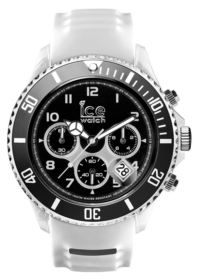 "Ice watch, Chronograph, ""ICE-SPORTY, SR.CH.WBK.BB.S.15"" in weiß-schwarz"