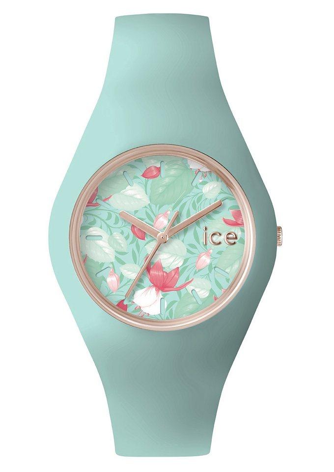 "Ice watch, Armbanduhr, ""ICE-FLOWER, ICE.FL.EDE.U.S.15"" in mintfarben-bunt"