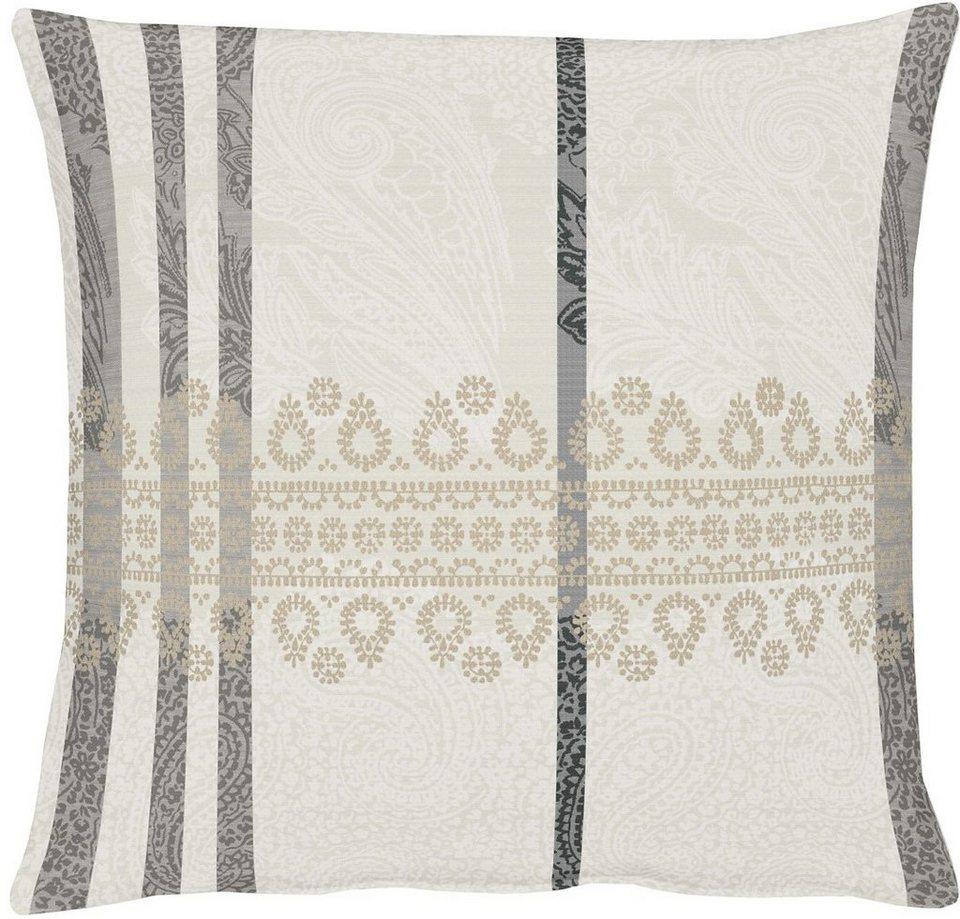 Kissenhüllen, Apelt, »Tudor« (1 Stück) in weiß/grau