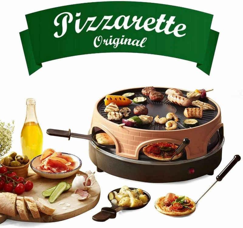 Emerio Standgrill Pizza-Ofen, PIZZARETTE PO-113255.4 Pizza-Raclette-Grill 3 in 1, 1500 W
