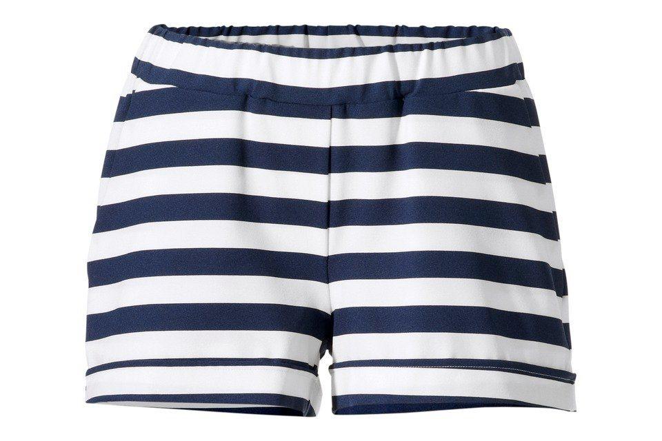 Shorts in blau/weiß