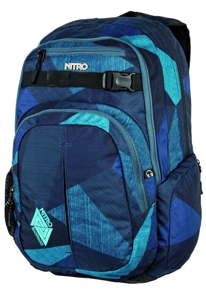 Nitro Schulrucksack, »Chase - Fragments Blue« in blau