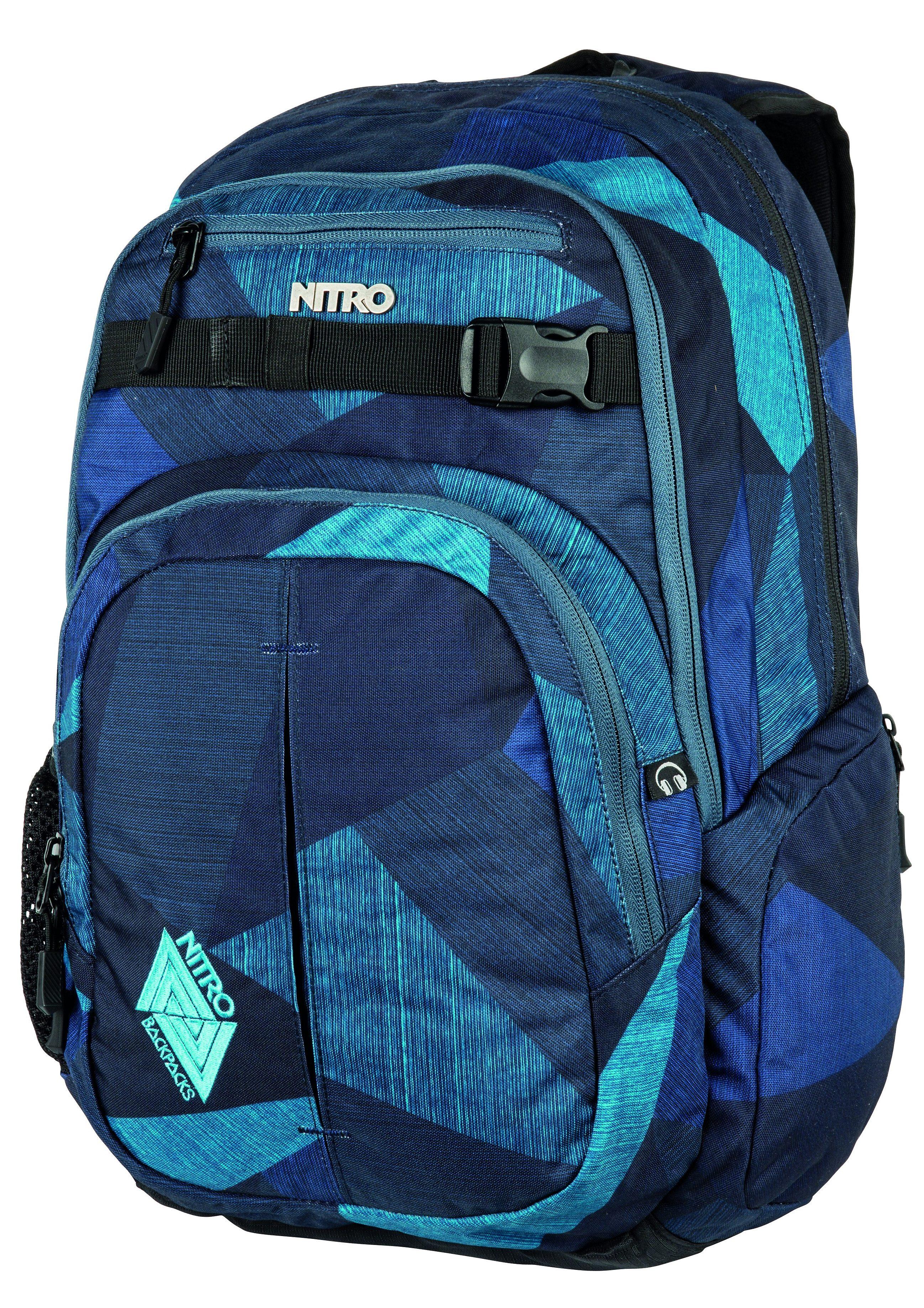 Nitro Schulrucksack, »Chase - Fragments Blue«