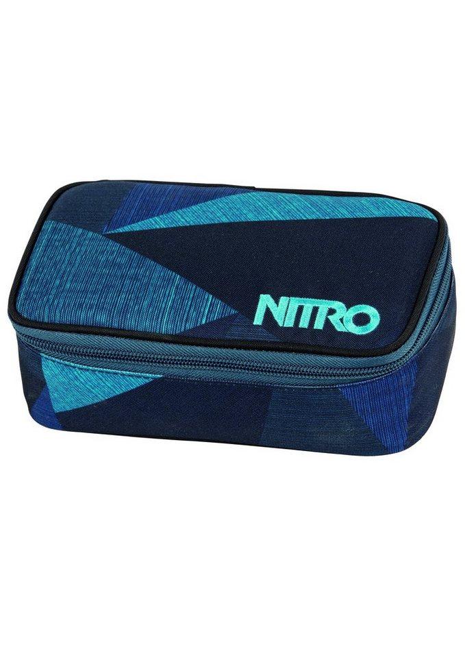 Nitro Mäppchen,  Pencil Case XL - Fragments Blau