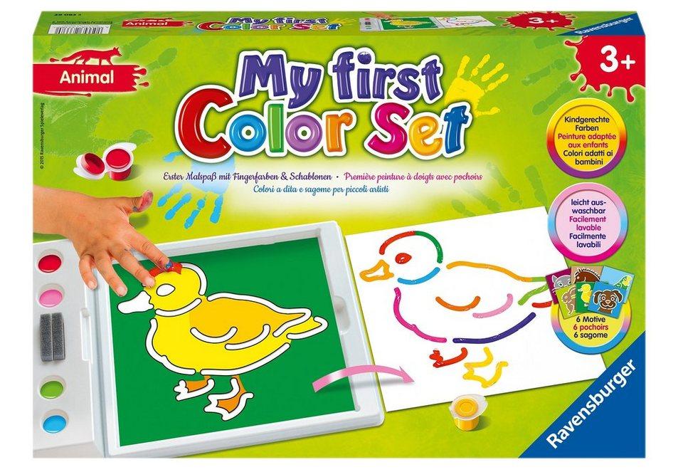 Ravensburger Fingerfarben Set, ministeps®, »My First Color Set - Animals«