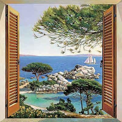 Home affaire Deco-Panel »A. D. Missier - Finestra sul Mediterraneo«