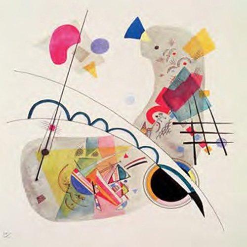 Decopanel, Home affaire, »W. Kandinsky/Grave Forme«, 70/70 cm in bunt