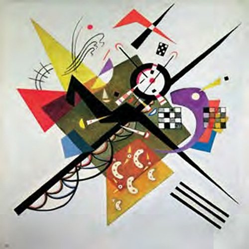 Decopanel, Home affaire, »W. Kandinsky/On White II«, 70/70 cm in bunt