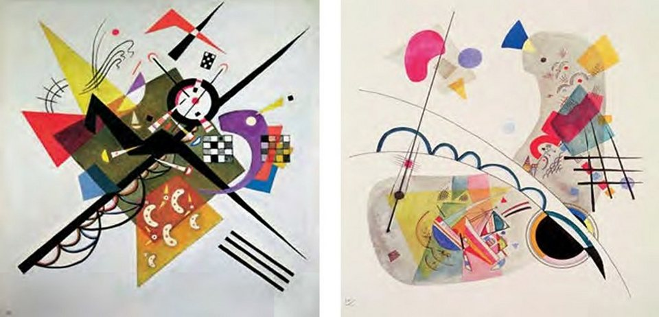 Bild, Kunstdruck, Home affaire, »W. Kandinsky / On White II, Grave Forme«, (2-tlg.) in bunt