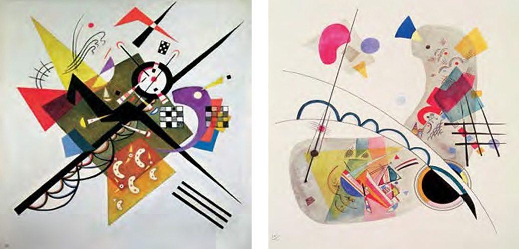Bild, Kunstdruck, Home affaire, »W. Kandinsky / On White II, Grave Forme«, (2-tlg.)