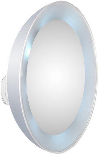 TWEEZERMAN Kosmetikspiegel, 15-fach Vergrößerung mit LED-Beleuchtung