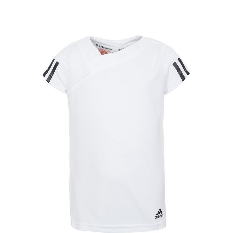 adidas Performance Response Tennisshirt Kinder in weiß / schwarz
