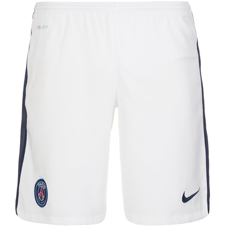 NIKE Paris Saint-Germain Short Away Stadium 2015/2016 Herren in weiß / dunkelblau