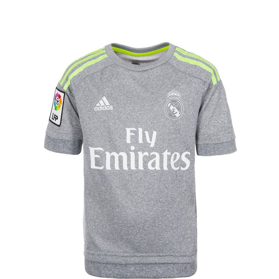 adidas Performance Real Madrid Trikot Away 2015/2016 Kinder in hellgrau / gelb