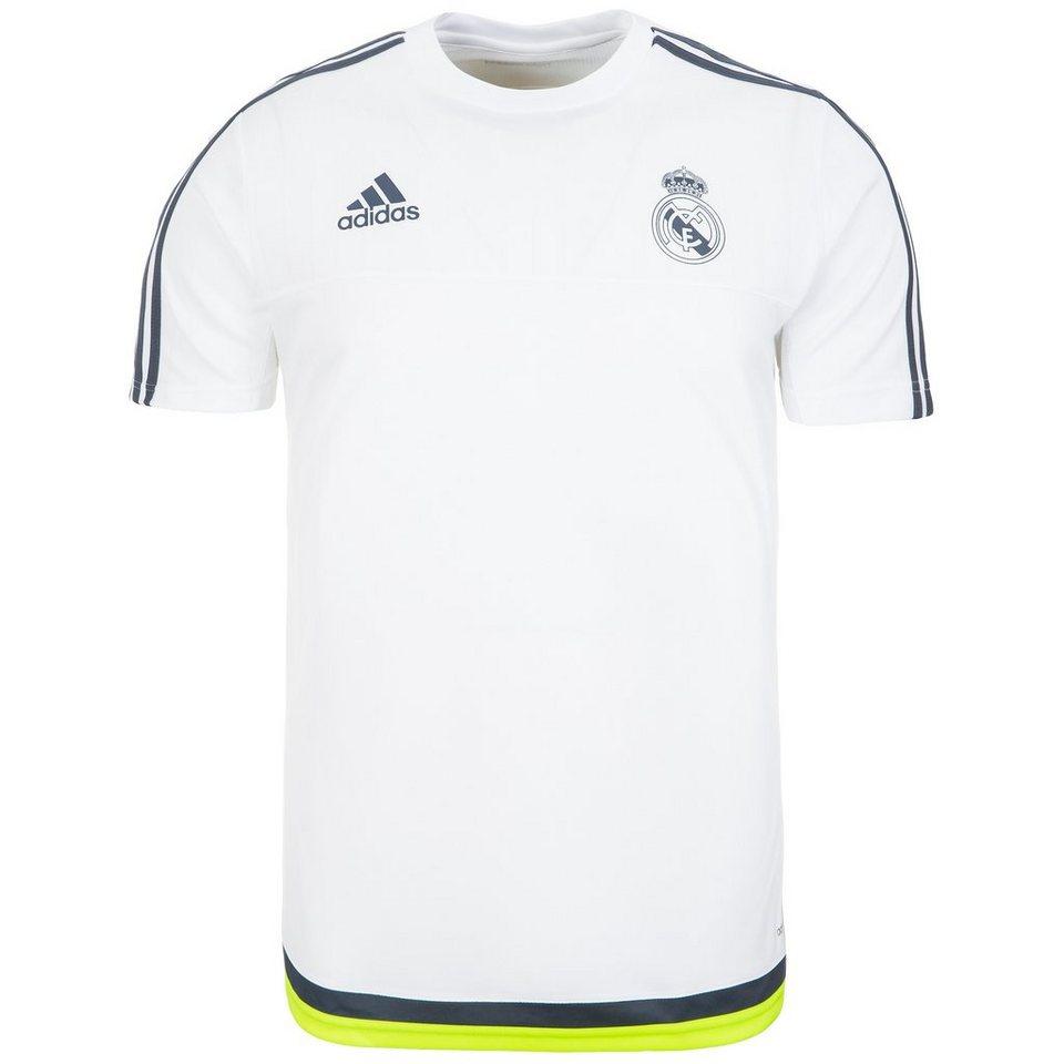 adidas Performance Real Madrid Trainingsshirt Herren in weiß / dunkelgrau