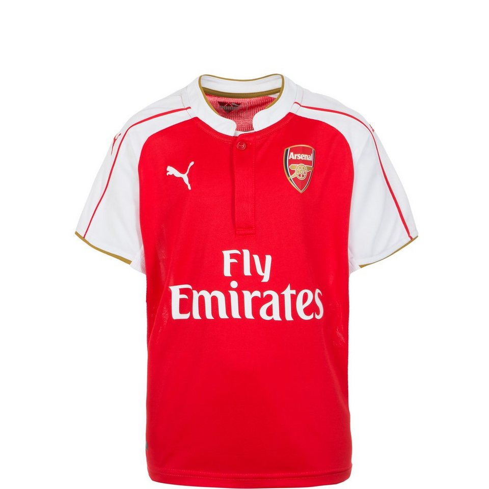 PUMA Arsenal London Trikot Home 2015/2016 Kinder in rot / weiß / gold